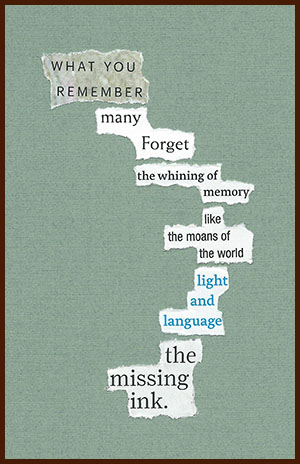 found poem © j.i. kleinberg ~ WHAT YOU REMEMBER